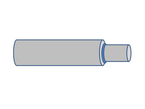 径(φ)違いの、バット溶接画像
