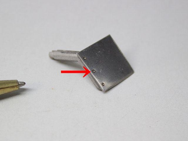 SUSロストワックスとプレートのスポット溶接画像