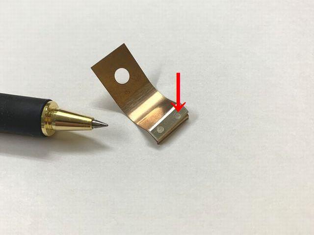 銀とりん青銅のスポット溶接画像