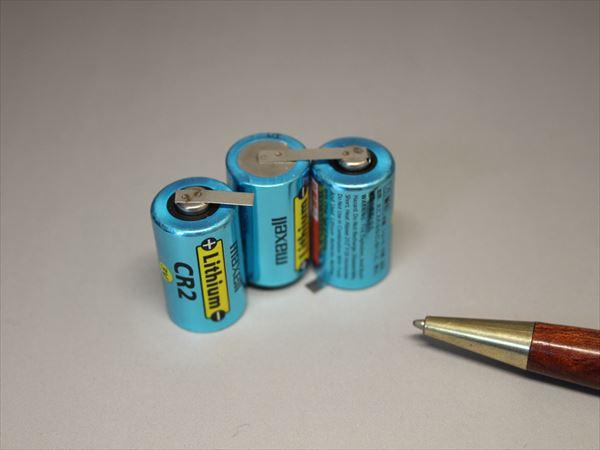 CR2電池のタブ付け画像
