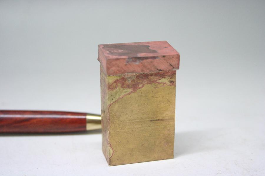 真鍮と銅合金の、ロウ付け溶接画像