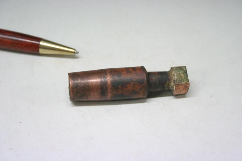 銅とモリブデンの、ロウ付け 画像