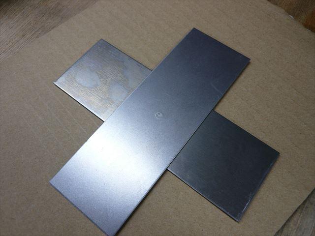 鉄系新素材のスポット溶接テスト画像