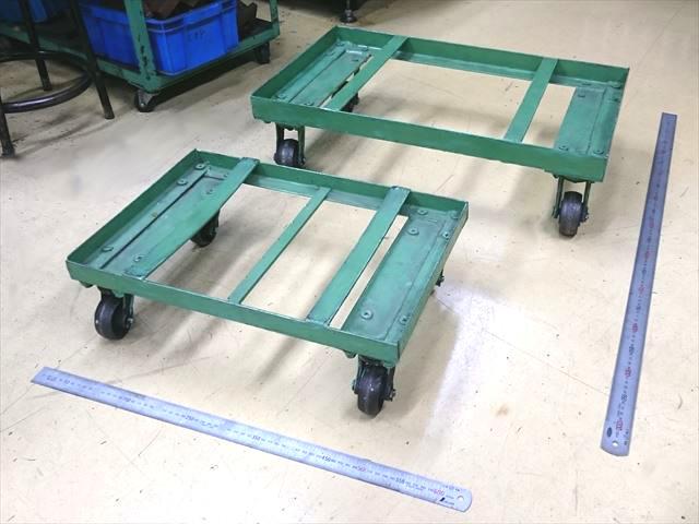 スチール製の運搬用台車 製作画像