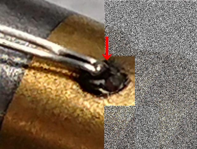 熱電対のレーザー溶接画像