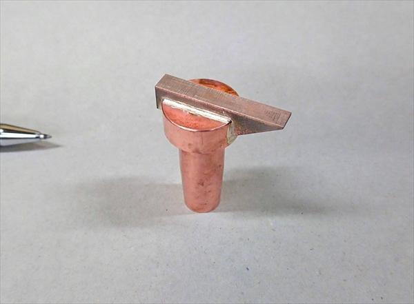 銅タングステンとクローム銅のロウ付け画像