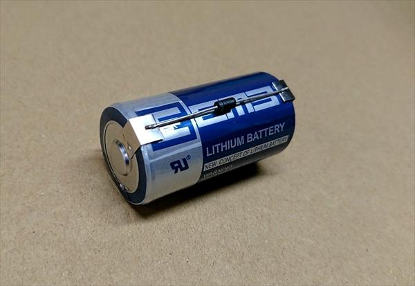 電池 ダイオード 取付け画像