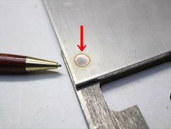 ステンレス板 3mmと5mmのスポット溶接画像