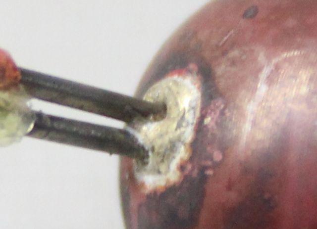アルメル・クロメル線+銅球の熱電対製作画像