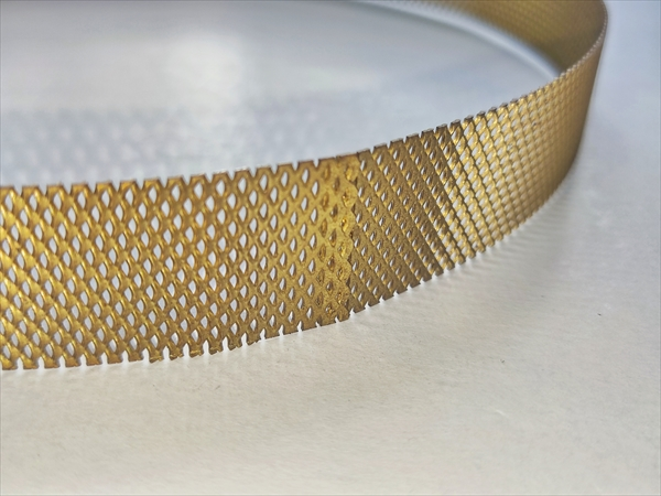 真鍮メッシュのスポット溶接画像
