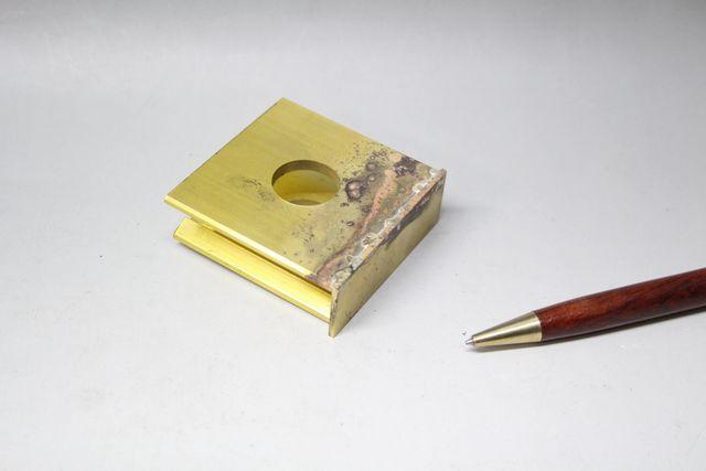 真鍮材の銀ロウ付け画像
