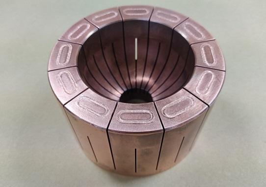 銅の電子ビーム溶接画像
