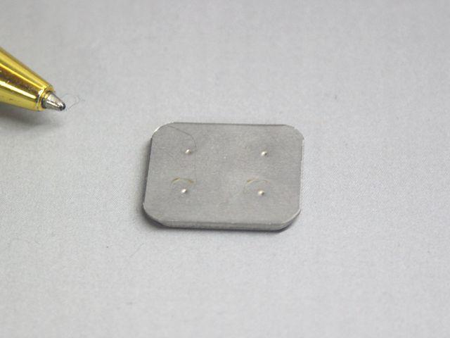 名盤プレート補強板のプロジェクション溶接画像