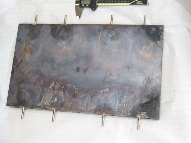 クロム銅とステンレスパイプのロ付け画像