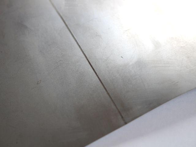 インコネル薄板の溶接画像