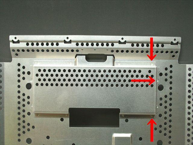 シールド板のアルミスポット溶接画像