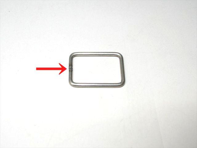 かばん用金具のバット溶接