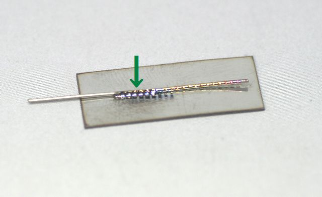 φ0.6SUS線材の、レーザー溶接テスト