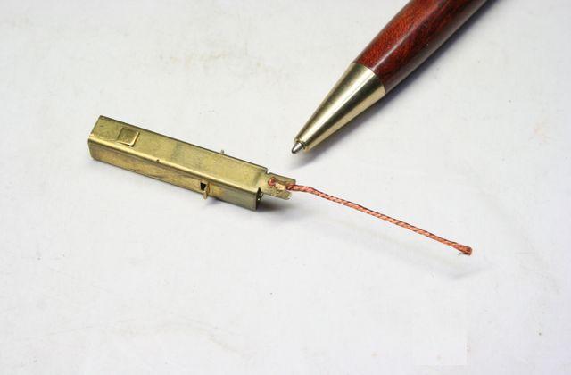 真鍮と銅撚り線の、スポット溶接加工画像