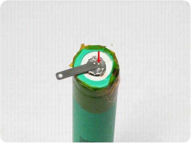 電池タブ端子 スポット溶接 1個から加工画像