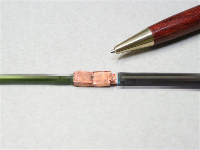 銅線のヒュージング加工 (φ4丸棒とφ4リッツ線)画像
