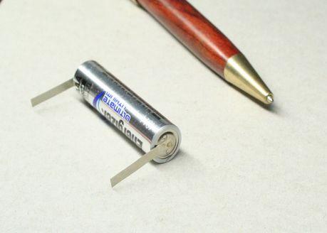 電池タブ スポット溶接 1個から加工画像