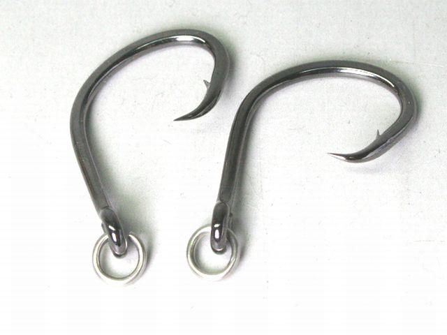 丸カン付き釣り針の 溶接加工画像