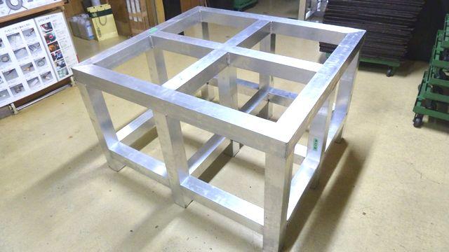アルミ製傾斜台の製作画像