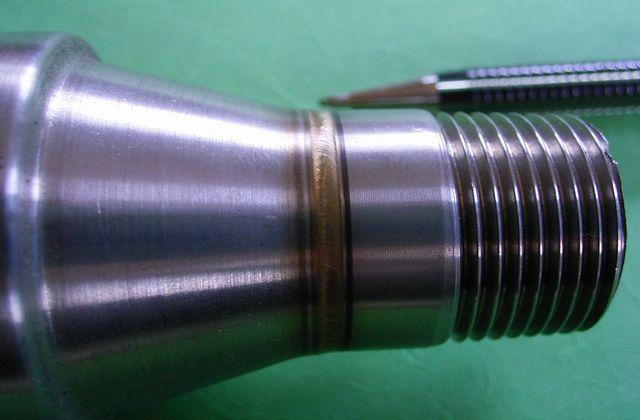 ヒーターパイプの、ティグ(アルゴン)溶接画像