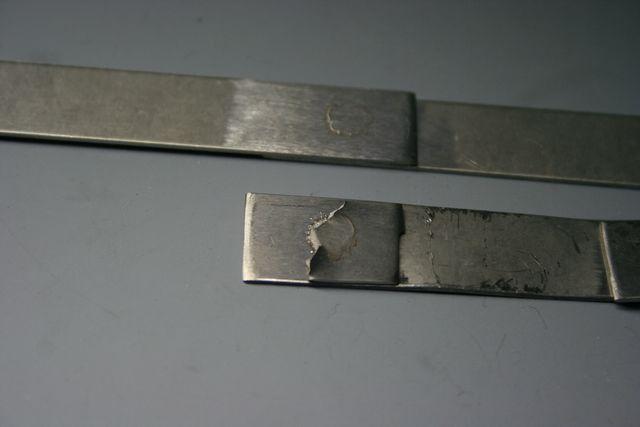 チタン6-4合金 抵抗帯のスポット溶接テスト画像