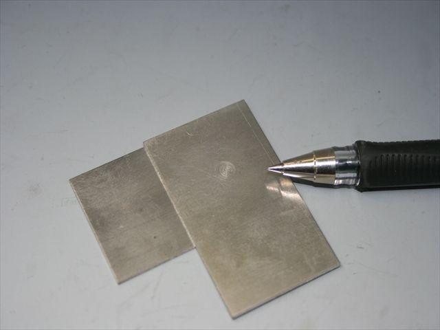 アルミニウム(A5052)のスポット溶接テスト画像
