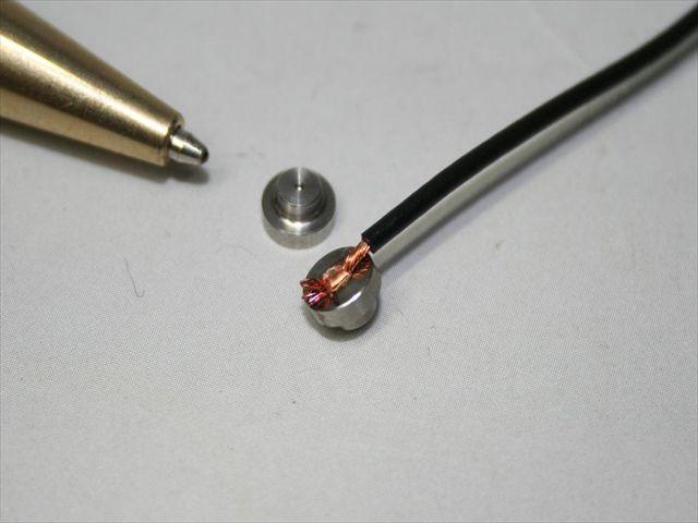 ステンレス部品への銅線溶接画像
