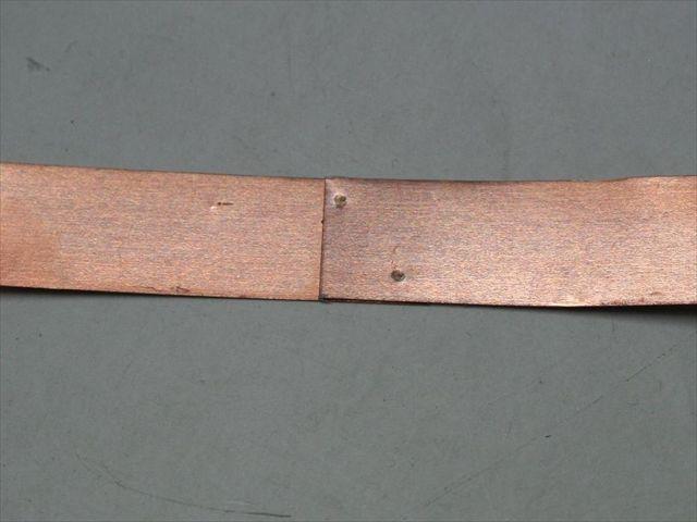 純銅(t0.1)のスポット溶接テスト画像