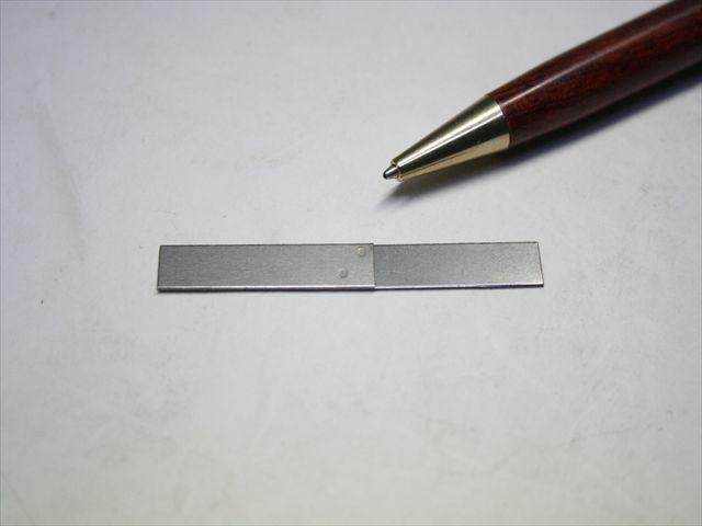 純チタン(t=0.5)のスポット溶接テスト画像