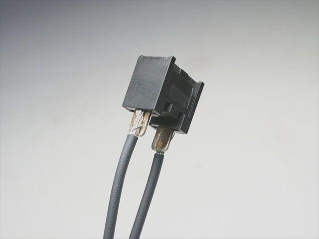 リード線ヒュージング加工と端子スポット溶接テスト画像