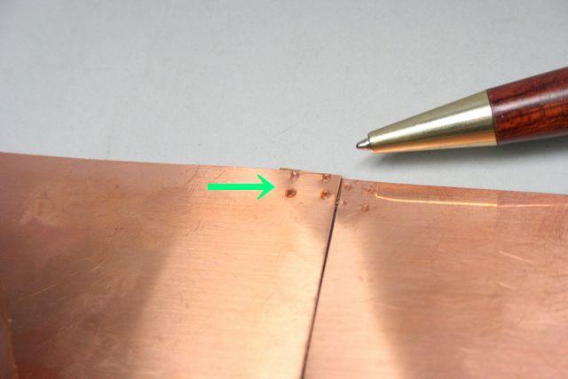 銅板 スポット溶接テスト(精密溶接)画像