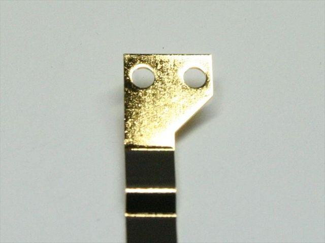 スポット溶接後の鍍金(メッキ)画像