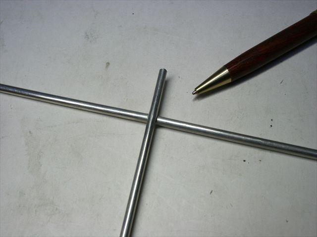 アルミ丸棒(φ4)のスポット溶接画像