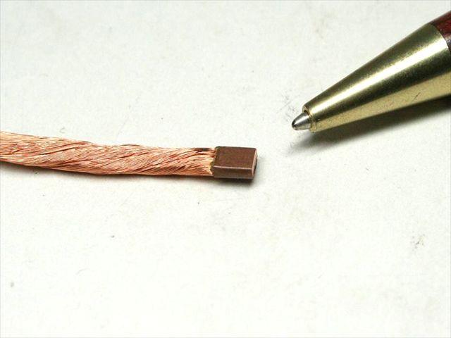 リッツ線のヒュージング(熱カシメ)画像
