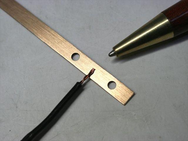 バスバー(0.5mm)への銅線スポット溶接画像