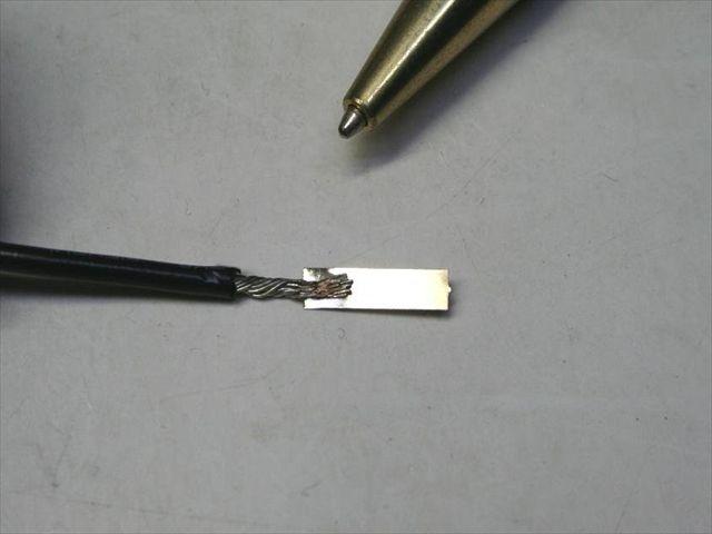 タブ付きリード線の試作画像