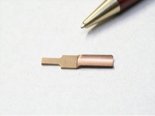 リン青銅 t0.4 3枚重ねスポット溶接画像