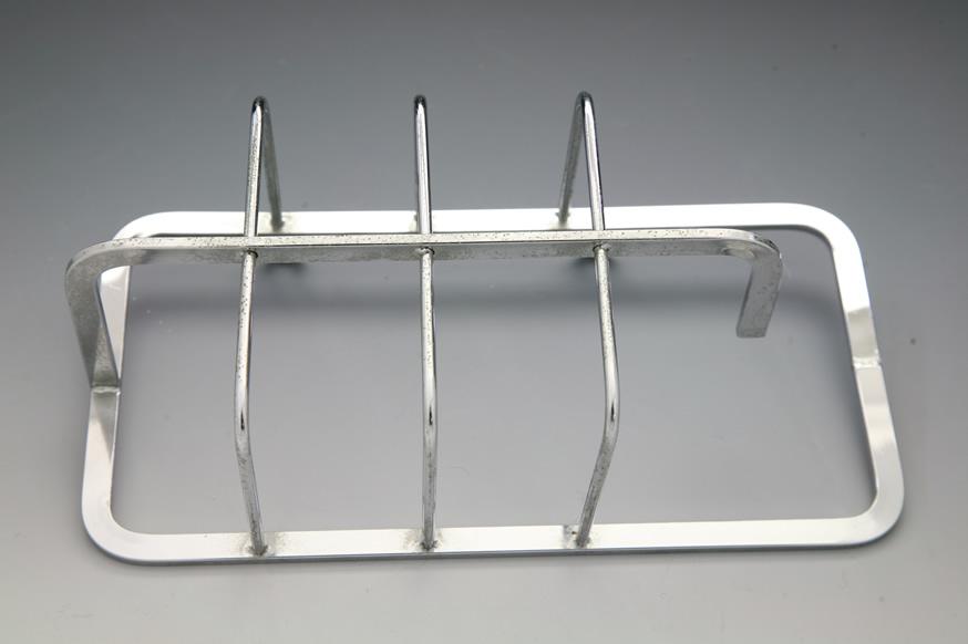 ステンレスの、線材とフラットバーのバット溶接加工品画像