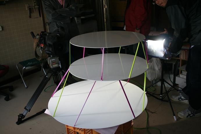 スチール製テーブルの製作画像