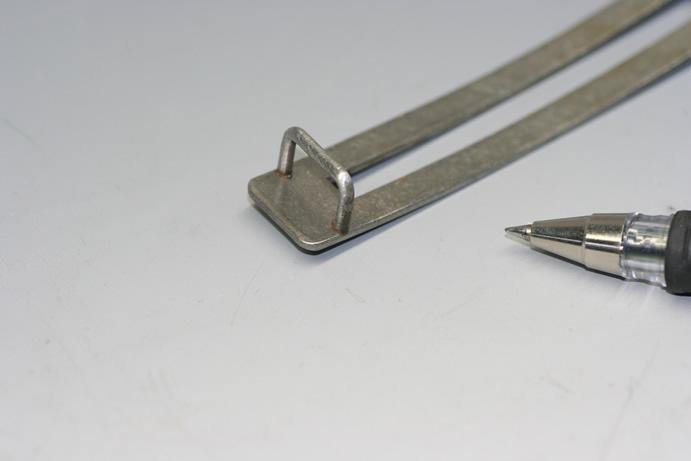 鉄板と鉄線材のバット溶接加工品画像