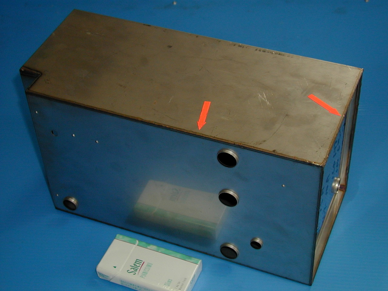 マクドナルド用ジュースタンクの全周溶接(Tig溶接)